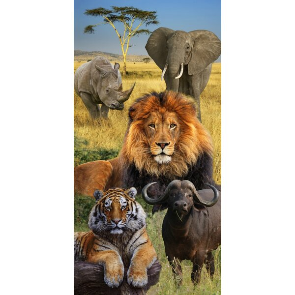 Big Five Elephant African Endanger Wildlife 100% Cotton Beach Towel by The Beach Collection